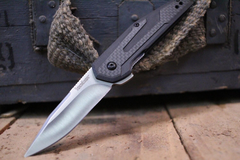 "Kershaw Fraxion 2.75"" Flipper, Carbon Fiber & Black G10 / Satin"