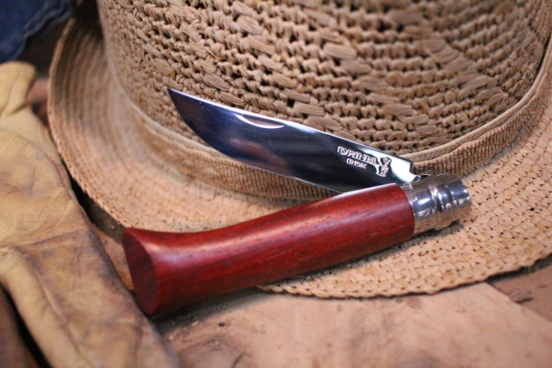 "Opinel Knives No. 8 3.25"" Knife, Bubinga / Satin Stainless"