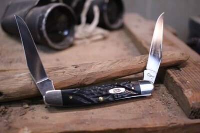 """Case Muskrat 3.875"""" / Rough Black Synthetic / Stainless Steel"""