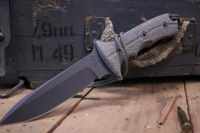"Chris Reeve Knives Green Beret 5.5"" Fixed Blade, Black Micarta / S35VN"