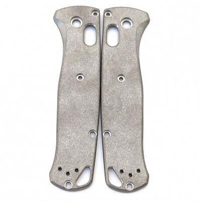 Flytanium Custom Titanium Scales for Benchmade Bugout, Stonewash