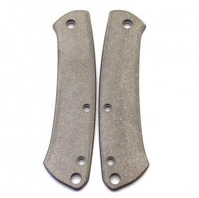 Flytanium Contoured Titanium Scales for Benchmade Proper, Stonewash