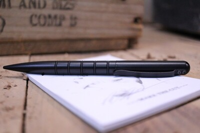 Tuff-Writer Operator Series Tactical Pen, Midnight Black Aluminum