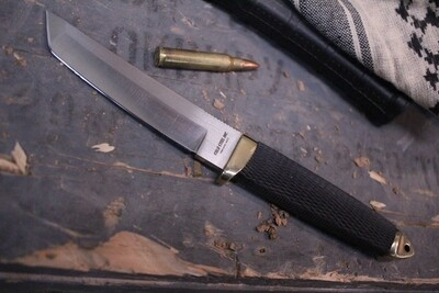 """Cold Steel Classic Mini Tanto 4.25"""" Fixed Blade, Brass & Rubber / Stainless ( Pre Owned )"""