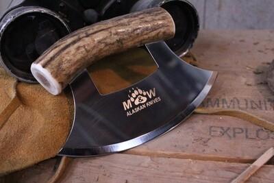 M&W Alaskan Knives Ulu, Alaskan Stainless / Elk Handle