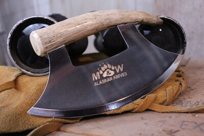 M&W Alaskan Knives Ulu, Alaskan Stainless / Moose Tine Handle