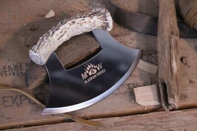 M&W Alaskan Knives Inupiat Ulu, Alaskan Stainless / Deer