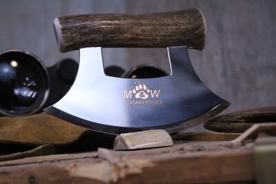 M&W Alaskan Knives Ulu, Alaskan Stainless / Caribou Handle