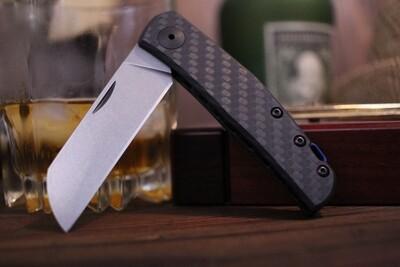 "Zero Tolerance 0230 Anso 2.6"" Slipjoint Knife / Carbon FIber / Stonewash 20cv"