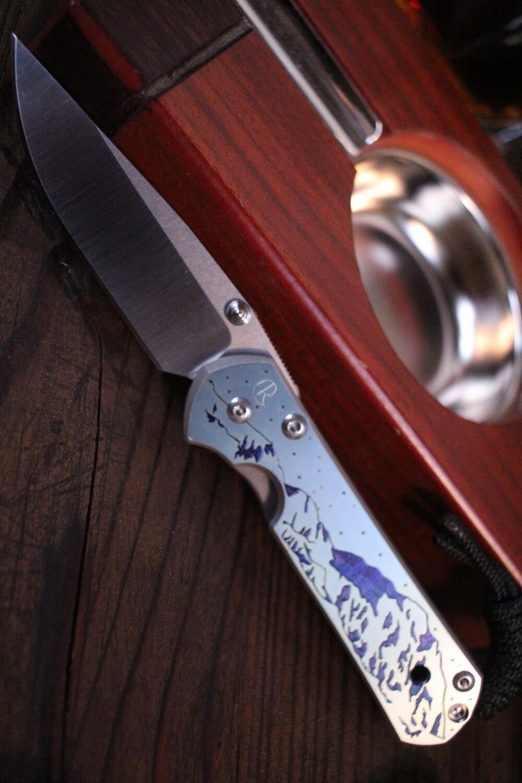 "Chris Reeve Custom Small Sebenza 21 2.94""  Knife / Denali Graphic / Polish S35VN"