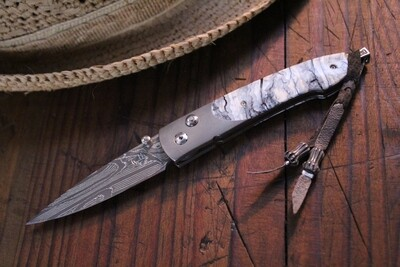 William Henry Studio B10 AG3 Ribbon Lace Damascus / Fossilized Mammoth Ivory / White Topaz / No. 23/50