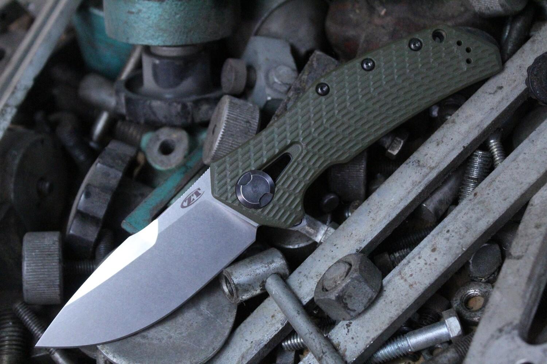 "Zero Tolerance 0308 3.75"" Frame Lock Knife / Ranger Green G10 / Titanium / 0301 Tribute / Stonewash"
