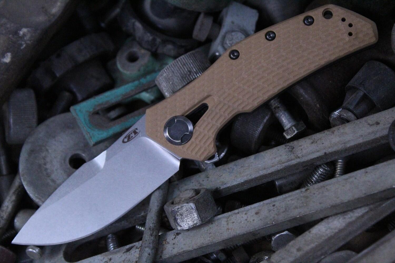 "Zero Tolerance 0308 3.75"" Frame Lock Knife / Coyote G10 / Titanium / 0302 Tribute / Stonewash"