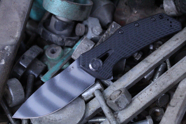 "Zero Tolerance 0308 3.75"" Frame Lock Knife / Black G10 / Titanium / 0303 Tribute / Tiger Stripe"