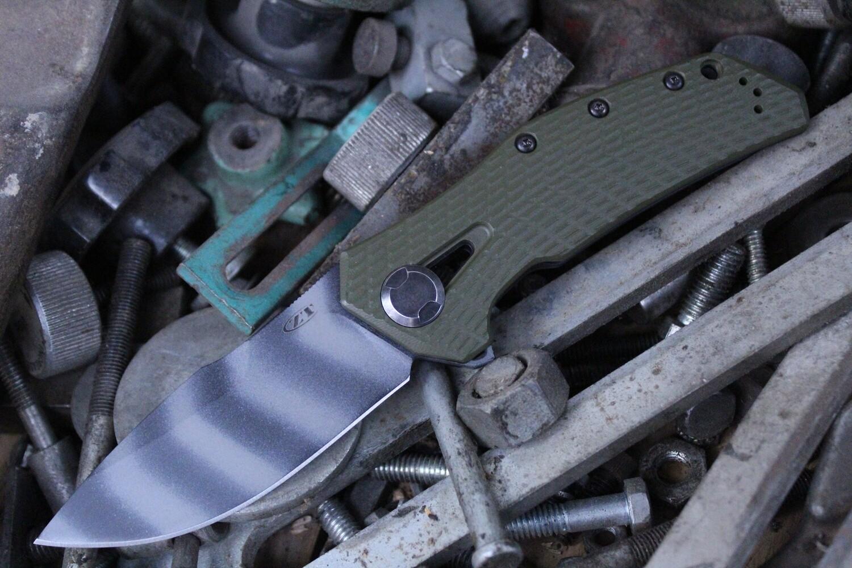 "Zero Tolerance 0308 3.75"" Frame Lock Knife / Ranger Green G10 / Titanium / 0301 Tribute / Tiger Stripe"