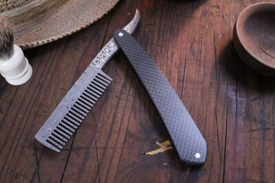 Bastion Damascus Straight Razor Comb