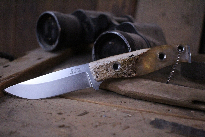 "3DK MAK 4"" Fixed Drop Point, M390 Blade / Oosik & Resin Handle"