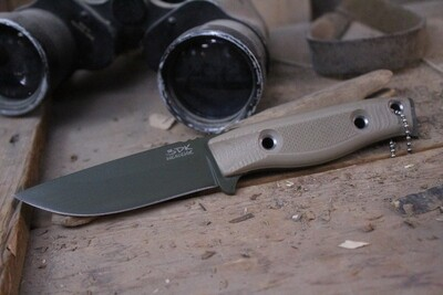 "3DK MAK 4"" Fixed Drop Point, OD Green Cerakote N690 Blade / Desert Tan G10 Handle"