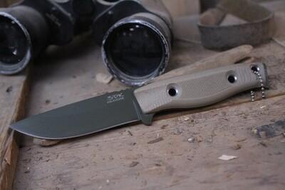 "3DK MAK 4"" Fixed Drop Point, OD Green Cerakote M390 Blade / Desert Tan G10 Handle"