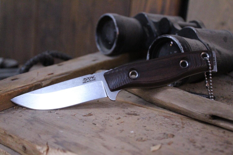 "3DK MAK 4"" Fixed Drop Point, N690 Blade / Bolivian Rosewood Handle"