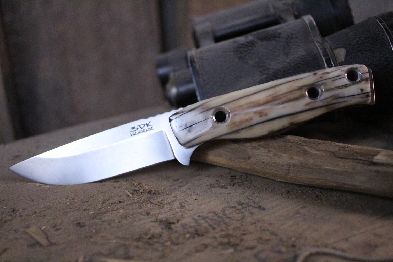 "3DK MAK 4"" Fixed Drop Point, M390 Blade / Fossilized Walrus Ivory"