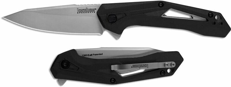 "Kershaw Airlock 3"" A/O Knife / Black / Bead Blasted"