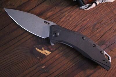 "Zero Tolerance 0357 3.25"" Assisted Opening Knife Black / G-10 / Working Finish"