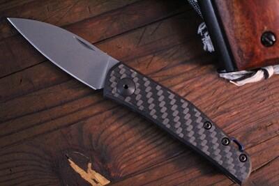 "Zero Tolerance Anso 0235 2.6"" Slip-Joint Knife / Carbon Fiber / Stonewash"