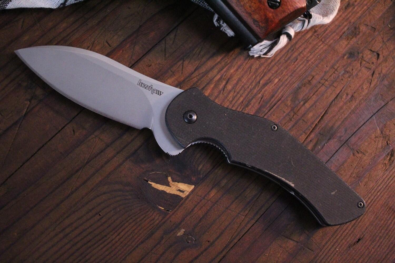 """Kershaw Junkyard Dog II 3.75"""" Liner Lock Knife / Black G-10 / Bead Blast ( Pre Owned )"""