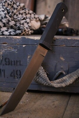 """Cold Steel Classic Recon 7"""" Tanto Fixed Blade Knife / Black / Midnight Bronze VG-1 ( Pre Owned )"""