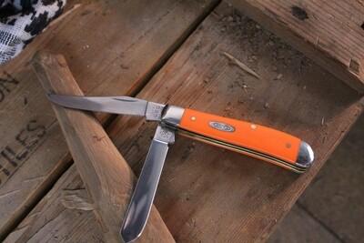"""Case Mini Trapper 3.5"""" / Orange Delrin / Stainless"""