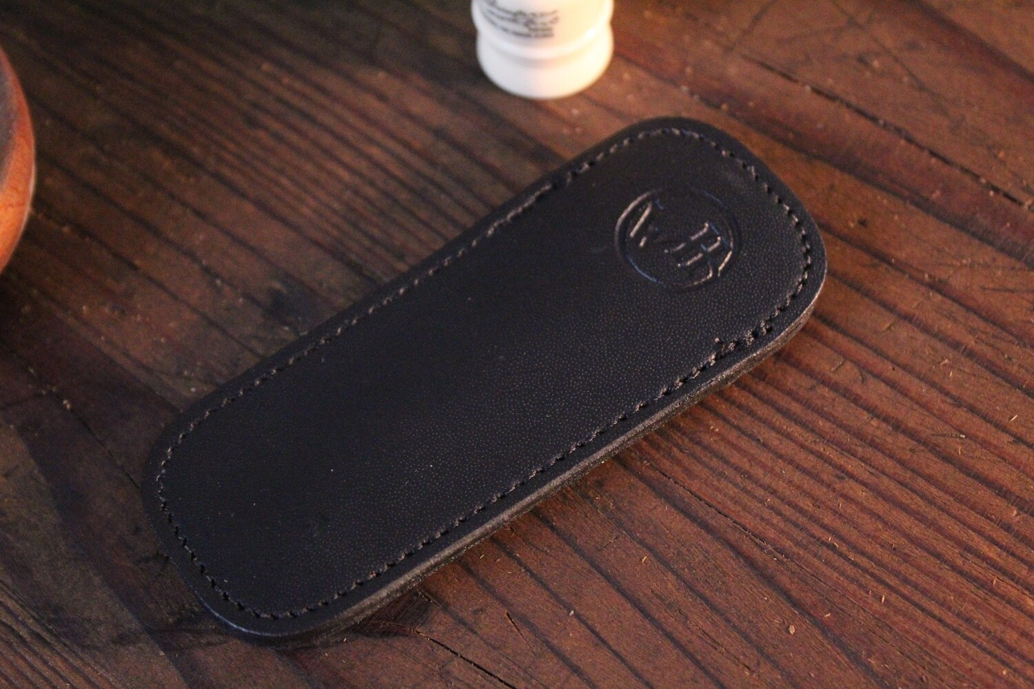 William Henry Studio Replacement Large Black Leather Clip Case