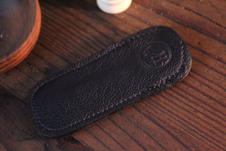 William Henry Studio Replacement Medium Black Leather Clip Case