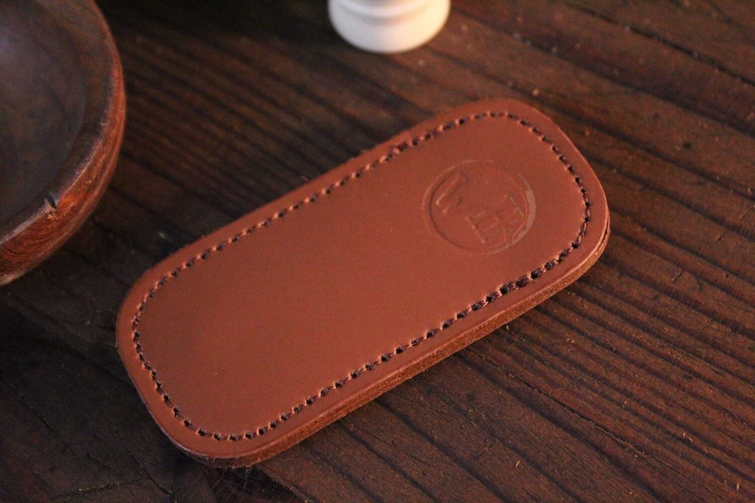 William Henry Studio Replacement Small Brown Leather Clip Case