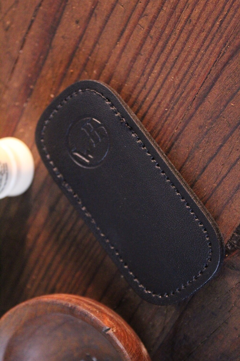 William Henry Studio Replacement Small Black Leather Clip Case