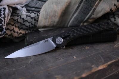"Zero Tolerance 0707 3.5"" Frame Lock Knife / Carbon Fiber / Stonewash 20CV"
