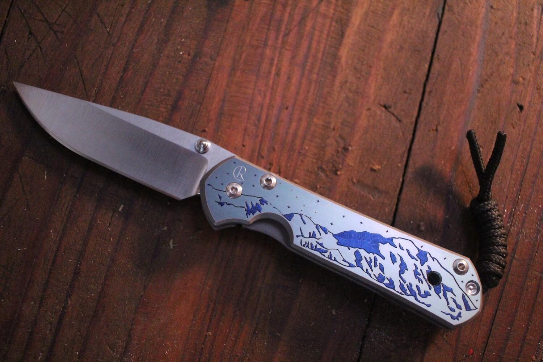 "Chris Reeve Custom Small Sebenza 21 2.94""  Knife / Denali Graphic / Polish S35VN ( Pre Owned )"
