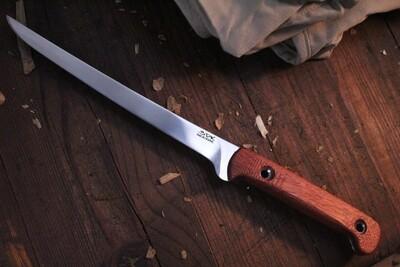 """3DK Fisher 8"""" Fillet Knife,  Blood Wood"""