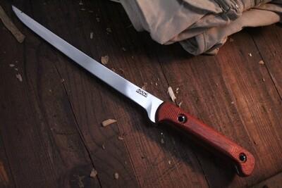 """3DK Fisher 8"""" Fillet Knife,  Padauk Wood"""