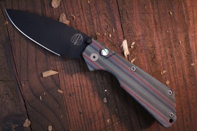 "Pro-Tech Strider SNG 3.5"" Automatic Knife / Unique Micarta / Black 154CM / Abalone Button"