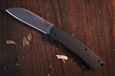 "Benchmade Proper 2.8"" Sheepsfoot Slip Joint Knife / Carbon Fiber / Stonewash ( Prototype )"