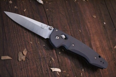 "Benchmade Large Emissary 3.5"" AXIS-Assist Knife / Grey / Satin ( Prototype )"