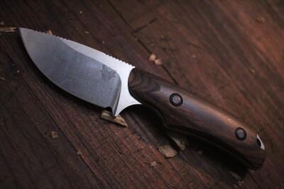 "Benchmade Hidden Canyon 2.67"" Hunting Knife / Stonewash / Dark Wood ( Prototype )"