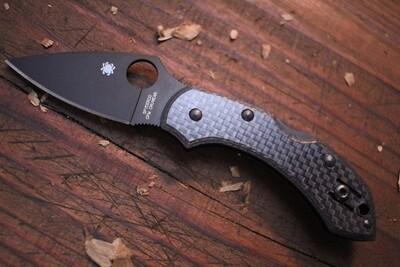 "Spyderco Dragonfly 2.3"" Lockback Knife / Carbon Fiber / TNi Cruwear"