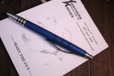 Tuff-Writer Mini Click Series Retractable Pen, Blue