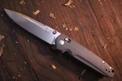 "Benchmade Valet 2.96"" Folding Knife / Grey G10 / Satin M390 ( Pre Owned )"