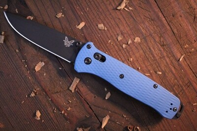 """Benchmade Bailout 3.38"""" AXIS Lock Knife / Custom Blue Cerakote / M4 ( Pre Owned )"""