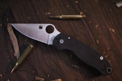 "Spyderco Para 3 3"" Compression Lock Knife,  Black G-10 / Satin ( Pre Owned )"