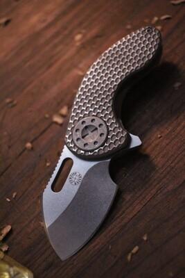 "Curtiss Custom Knives Nano Flipper 2"" Folding Knife / Titanium / CTS-XHP ( Pre Owned )"