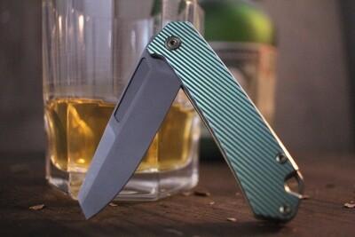 "Richard Rogers Slim Utility 2.76"" Folding Knife / Anodized Titanium / Bead Blasted M390 ( Pre Owned )"